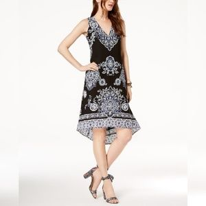 INC Bohemian Print High-Low Dress
